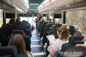 bus tour-wedding venue